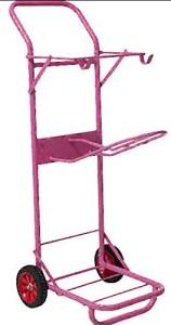 Ein rosa Sattelhalter für kleine Reiterinnen und freche Ladies